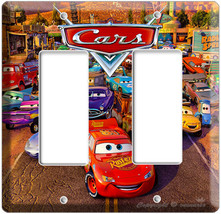 Disney's Cars 2 Movie Lightning Mcqueen Gfi Double Light Switch Wall Plate Cover - $9.59
