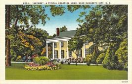 ELIZABETH CITY, North Carolina NC  BAYSIDE~Colonial Home ca1940's Linen ... - $6.84