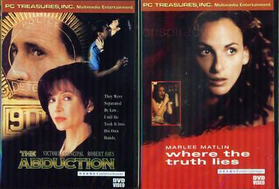 ABDUCTION & Where Truth Lies- Crime Thrillers- NEW 2DVD