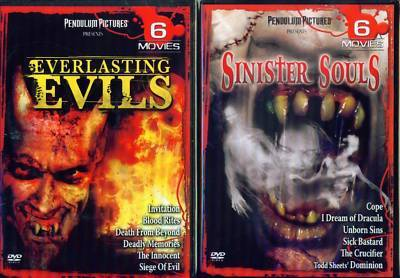 AFTERLIFE: Everlasting Evil & Sinister Souls -12 Horror Films - NEW 4 DVD