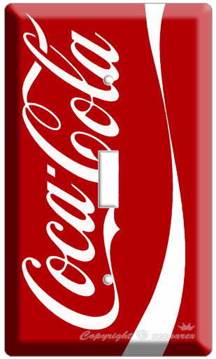 MEW COKE COCA COLA CLASSIC VINTAGE SINGLE LIGHT SWITCH COVER WALL PLATE VERTICAL