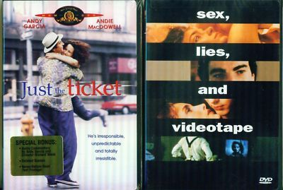 ANDIE MacDOWELL-Sex Lies Video-Just The Ticket-NEW 2DVD