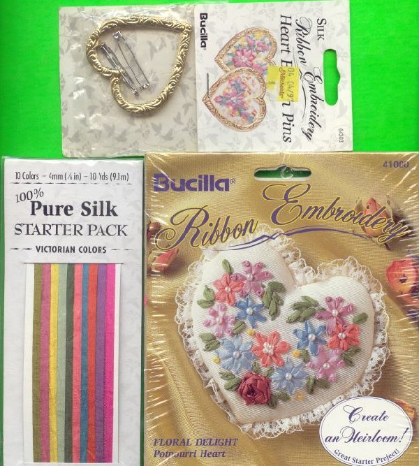 Silk Ribbon Lot Odds and Ends