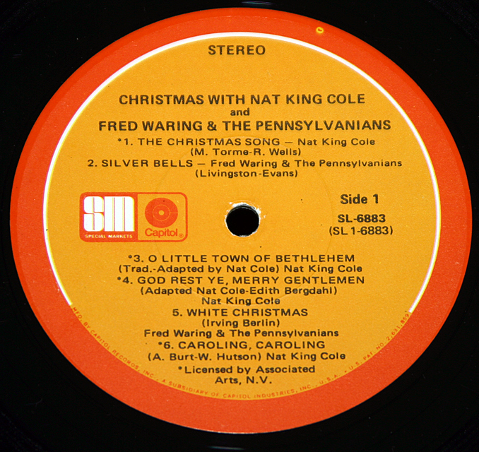 "Nat King Cole & Fred Waring ""Christmas With ""   LP"