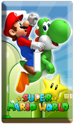 NEW SUPER MARIO YOSHI LUIGI SINGLE LIGHT SWITCH COVER WALL PLATE DS NINTENDO WII