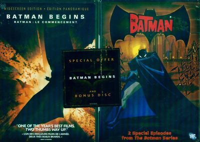 BATMAN Begins & Bonus Batman (Annimated) Disc NEW 2 DVD