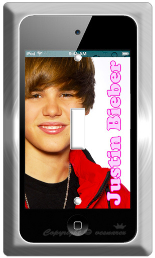 iPOD 4G SCREEN JUSTIN BIEBER SINGLE LIGHT SWITCH WALL PLATE COVER POSTER IPHONE