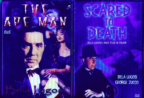 BELA LUGOSI Scared-Death-Kiss-Ape+More-5 film NEW 3 DVD