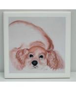 Cocker Spaniel Dog Art Ceramic Tile Coaster Trivet Solomon - $14.00
