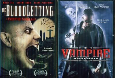 BLOODLETTING:Vampire Scroll/ Vampire Assassin NEW 2 DVD
