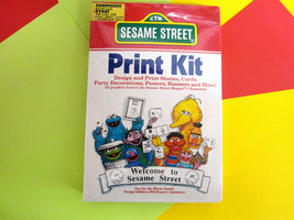 "1988 Commodore | Atari ""Sesame Street Print Kit""  UN-Opened Collectable *NEW* - $16.95"