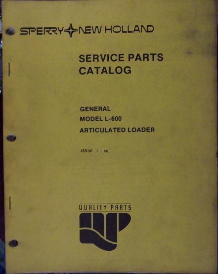 New Holland L600 Articulated Loader Parts Manual
