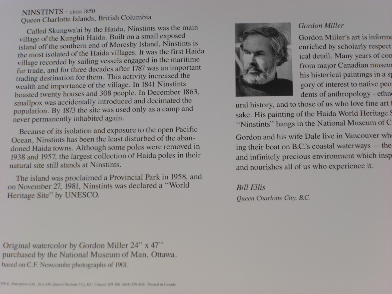 Haida Art Card NINSTINTS by Gordon Miller