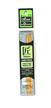 Clover Takumi Bamboo 5 Inch Double Point Knitting Needle Size 0 - $14.36