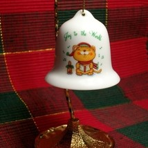 "Ceramic ""JOY TO THE WORLD"" Christmas Bell Ornament by Russ Berrie - Cute... - $0.99"