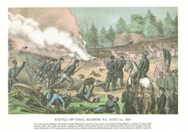 CIVIL WAR Coal Harbor, Spottsylvania, Currier Ives 9X12 - $9.29