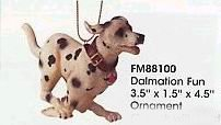 DALMATIAN FUN: Vanmark Firefighter Ornament - BRAND NEW