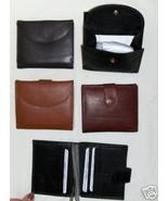 Genuine Leather Men's or Ladies Wallet- #521 DK.BROWN - $16.00