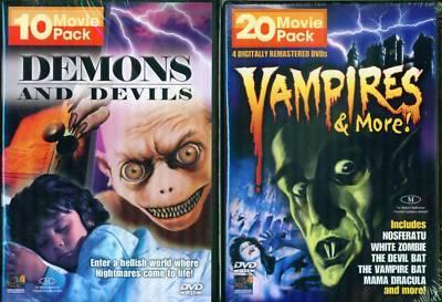 DEMONS-DEVILS-VAMPIRES-Werewolves-Zombies 30 Film 6 DVD