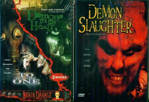 DEMONS IN MY HEAD/Demon Slaughter/Brain Damage NEW 2DVD