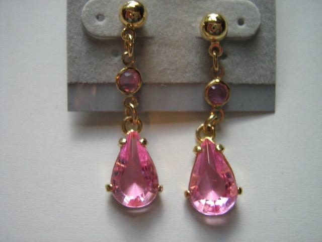 Avon Simulated Birthstone Necklace & Pierced Earrings Set - October Tourmaline