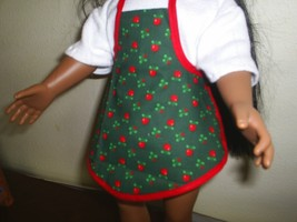 2 Aprons for Dolls HandMade aprons that fit American Girl Gotz Doll Clothes - $5.50