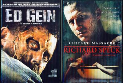 ED GEIN+RICHARD SPECK-Butcher+Chicago Massacre NEW 2DVD