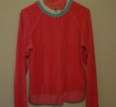 Juicy Couture Pink Velour Mock Neck Jacket Size XL - $9.00