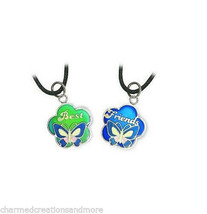 Best Friends BFF Mood Color Changing Butterfly Necklace 2 pc Set & Color... - $9.89