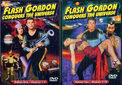 FLASH GORDON Conquers Universe 1&2-All12 Chpts NEW 2DVD