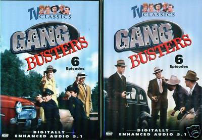GANG BUSTERS: Classic 12 TV Crime Episodes - NEW 2 DVD