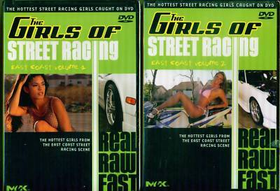 GIRLS OF STREET RACING: East Coast V. 1 & 2 - NEW 2 DVD