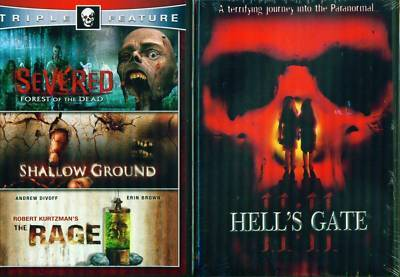 HELL'S GATE-Rage-Severed-Shallow Ground NEW 4 Film 2DVD