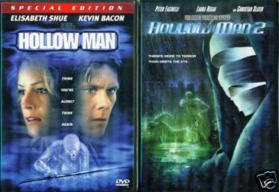 HOLLOW MAN 1 & 2: Kevin Bacon/Christian Slater NEW 2DVD