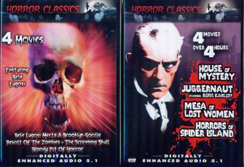HORROR CLASSICS 1618: 8 Films Screaming Skull+NEW 2 DVD