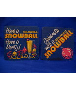 Goldwell Snowball Drink Beer Coasters Souvenir set of 2 - $3.99
