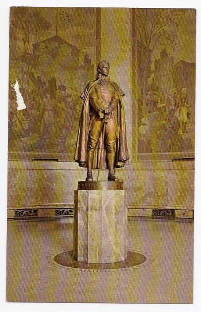 Primary image for c1950s George Rogers Clark State Memorial - Clark Statue - Vincennes IN - Unused