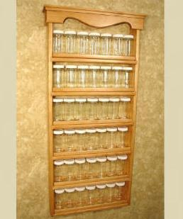 "Primary image for Wall Mounted Spice Rack - "" Americana Farmhouse"" Spice Rack"