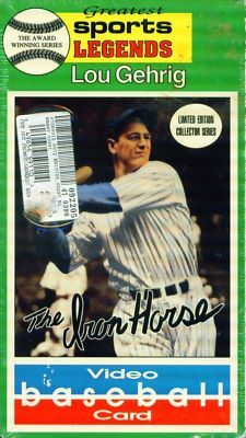 LOU GEHRIG Greatest Legends Video Baseball Card NEW VHS