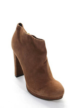 Michael Kors Womens Bootie Ankle Booties Pumps Brown Tan Suede Tan  Size 8.5 M - $89.00