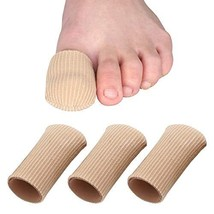 Skyfoot's Toe Caps Fabric Lined with Silicone Gel Sleeves Protectors - 3... - $13.89