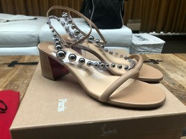 Christian Louboutin Corinne Beige 55MM PVC Sandals New - $959.00