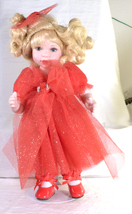 "#3163 Marie Osmond Doll 9"" Blond with Red Dress - $45.00"