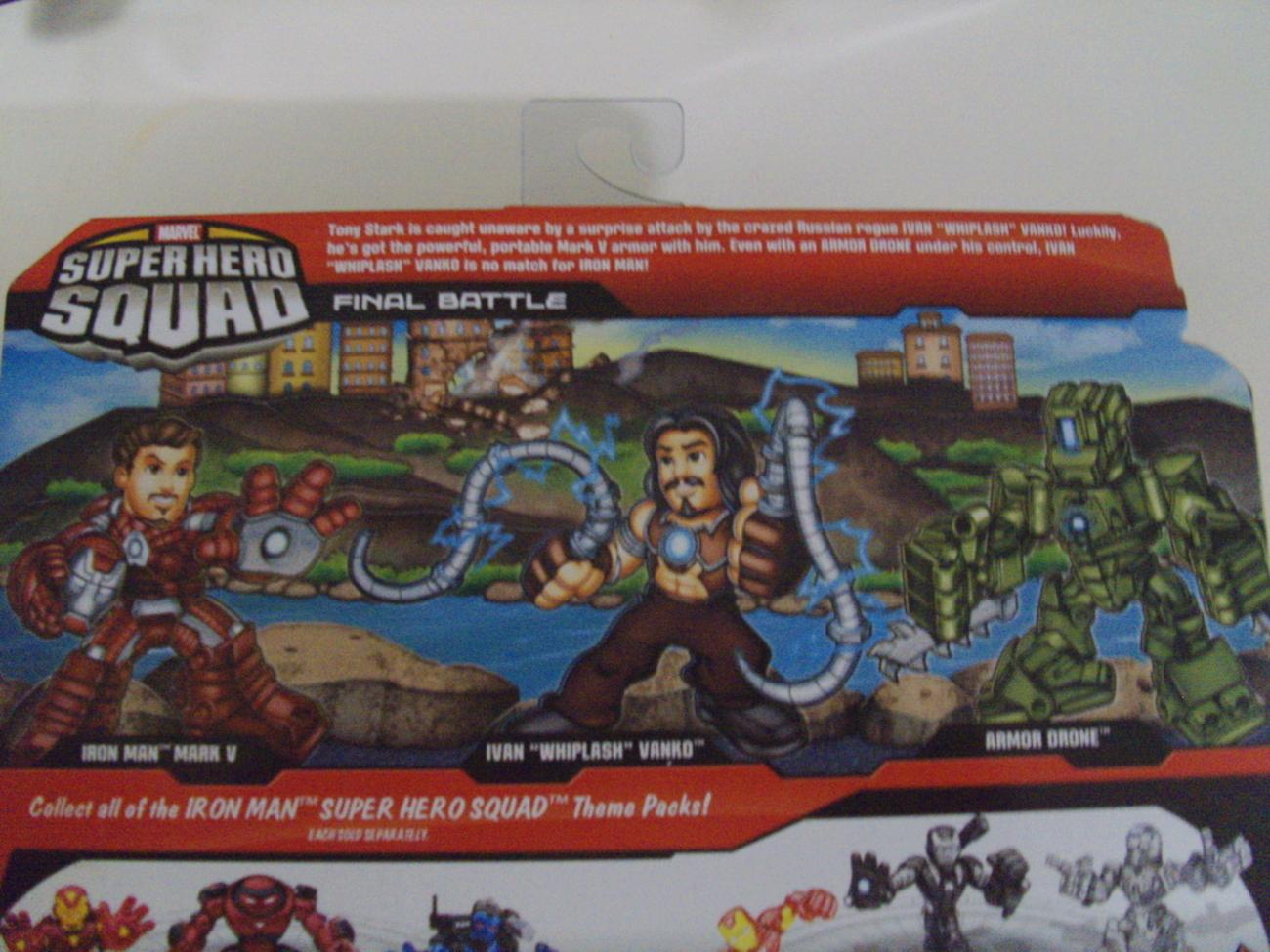 Marvel Comics Iron Man 2 Super Hero Squad Final Battle action figures - New