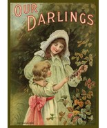 Wall Decor Poster.Interior home.Room art design.Victorian children cover... - $9.90+