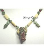 Tree Lamp Work Focal,Jasper, New Jade Agate Carnelian Gemstone Strung Ne... - $112.99