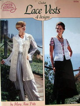 Pattern Leaflet CROCHET LACE VESTS 1993 American School of Needlework # ... - $9.95