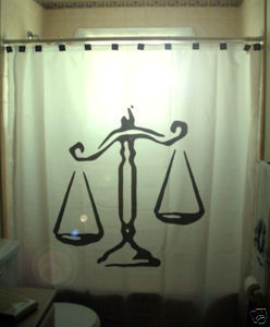 SHOWER CURTAIN Scales of Justice Human Civil Rights Law