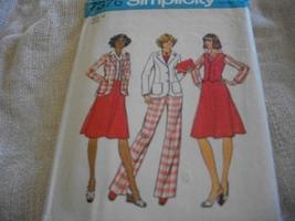 Woman's Jacket, Skirt & Dress Pattern Simplicity 7376 - $15.00