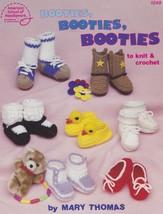 Booties Booties Booties, American School Needlework Crochet & Knit Pattern 1049 - $7.95